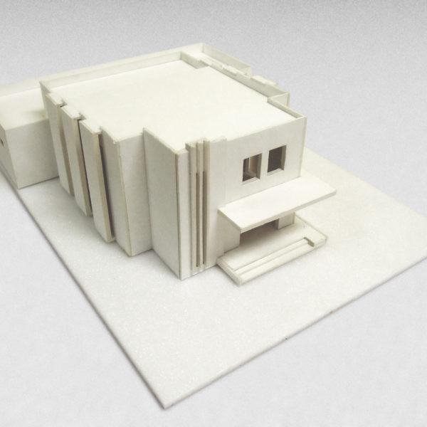 Architektonický model obřadní síně v Rychvaldu