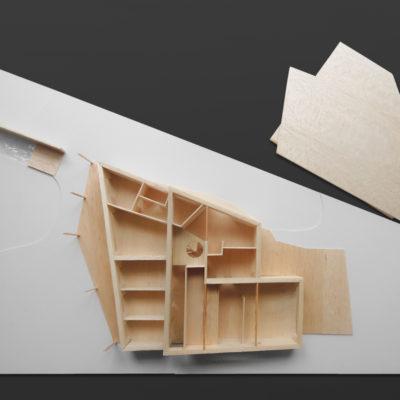 Architektonický model rodinného domu Žďár nad Sázavou